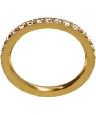 Edblad 216130151-M Las señoras brillan anillo de oro mate - tamaño p (m)