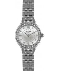 Rotary LB02866-06 Relojes de piedra ubicados reloj de acero de plata