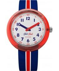 Flik Flak FPNP026 Reloj de banda roja para niños