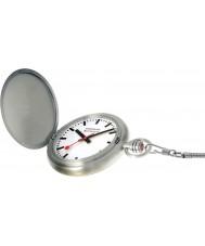 Mondaine A660-30349-16SBB Mens especiales Savonnette bolsillo ii reloj de plata con la cadena