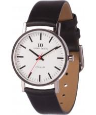 Danish Design V12Q199 reloj de la correa de cuero negro de las señoras