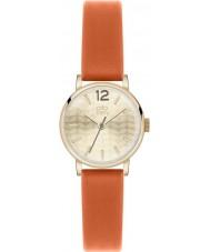 Orla Kiely OK2016 Frankie damas reloj de la correa de cuero de color naranja
