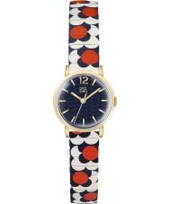 Orla Kiely OK4040 señoras de la flor del pop azul blanco rojo de la ampliación de reloj pulsera