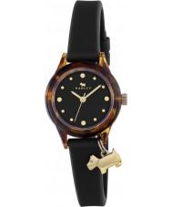 Radley RY2324 Reloj de señoras que! reloj de la correa de color negro con reflejos dorados