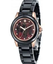Klaus Kobec KK-10008-04 Señoras Vesta oro rosa y reloj de cerámica negro