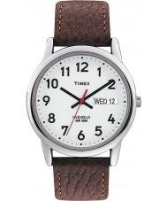 Timex T20041 Para hombre blanco de Brown del reloj lector de fácil