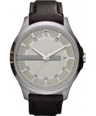 Armani Exchange AX2100 reloj del vestido de la correa de cuero marrón oscuro de los hombres