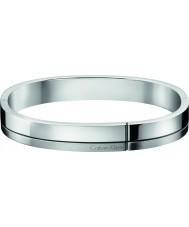 Calvin Klein KJ3PMD09010L Para hombre construye brazalete de acero tono de plata