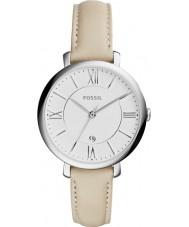 Fossil ES3793 Señoras del reloj de la correa de cuero color crema Jacqueline