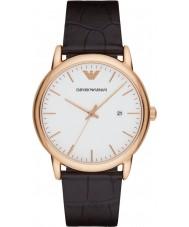 Emporio Armani AR2502 Reloj para hombre de la correa de cuero de color marrón oscuro clásico