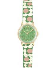 Orla Kiely OK4042 Damas flor del pop rosa crema verde ampliación de reloj pulsera
