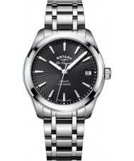 Rotary LB90165-04 reloj de pulsera de acero plata Relojes de legado