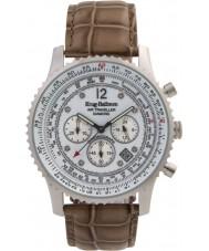 Krug-Baumen 600501DS reloj de diamantes viajero aéreo para hombre
