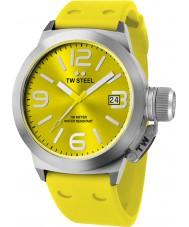 TW Steel TW520 reloj de correa de silicona amarilla moda cantina