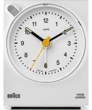 Braun BNC004WHWH Voz reloj de alarma de control - blanco