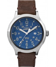 Timex TW4B06400 reloj de la correa de cuero marrón para hombre expedición exploradora