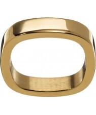 Edblad 2153441876-XS Señoras de oro amarillo anillo plateado de jolie - tamaño l (x)