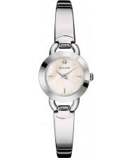 Bulova 96P154 Señoras de los diamantes de acero de plata reloj del brazalete