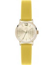 Orla Kiely OK2020 Frankie damas reloj de la correa de cuero amarillo