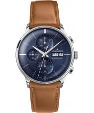 Junghans 027-4526-01 Meister controlador coñac cronoscopio marrón reloj automático