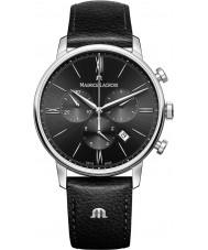 Maurice Lacroix EL1098-SS001-310-1 Para hombre reloj cronógrafo Eliros correa de cuero negro