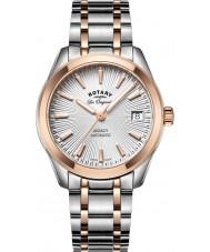 Rotary LB90167-06 Relojes de legado en dos tonos reloj pulsera de acero