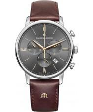 Maurice Lacroix EL1098-SS001-311-1 Para hombre reloj cronógrafo Eliros correa de cuero marrón