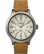 Timex TW4B06500 reloj de la correa de cuero marrón para hombre expedición exploradora