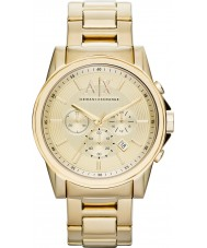 Armani Exchange AX2099 Para hombre chapado en oro reloj de vestir cronógrafo