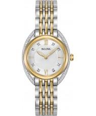 Bulova 98R229 Reloj de las señoras curv del diamante