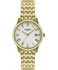 Rotary GB00794-32 Para hombre de ultra delgada de oro reloj plateado