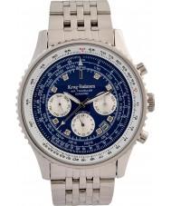Krug-Baumen 600304DSA Reloj automático de diamantes para viajeros aéreos