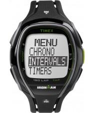 Timex TW5K96400 Ironman 150 vueltas a tamaño completo elegante correa de resina negro reloj cronógrafo