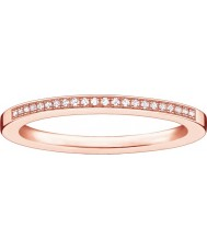 Thomas Sabo Las damas glam y el alma rosa anillo de diamantes de oro