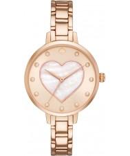Kate Spade New York KSW1216 Las señoras de metro subió reloj pulsera de acero de oro