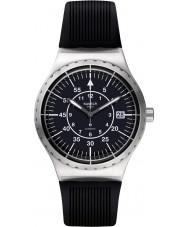 Swatch YIS403 reloj de pulsera de caucho negro para hombre del sistem flecha